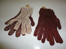 Women'S Knit French Gloves, 2 Pairs