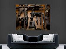 Armes automatiques armes fusil Affiche couteau Munitions Balles Wall Art Print
