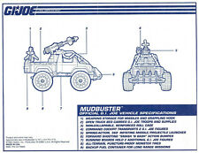G.I. JOE Series 12 Vintage Blueprints Original Instructions MUDBUSTER
