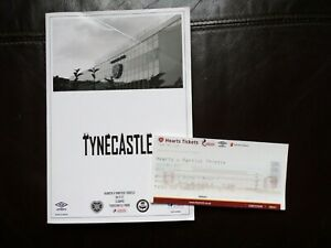 HEART OF MIDLOTHIAN - PARTICK THISTLE FOOTBALL PROGRAMME + TICKET - 19/11/2017