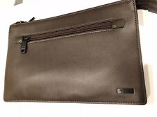 Tumi BROWN LEATHER HANDBAG WITH ID LOCK