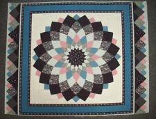 Faux patchwork quilt fabric panel