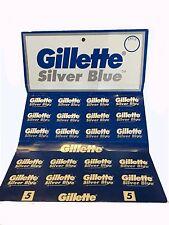 100 PCs Gillette Silver Blue Double Edge Razor Blades !!!