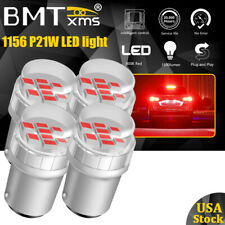 4Pcs 1156 7506 P21W Red LED Brake Stop Tail Light Bulb Error Free For Toyota
