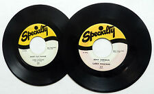LARRY WILLIAMS Lot Of 2 45's SPECIALTY label SOUL Rock N ROLL #bb3483
