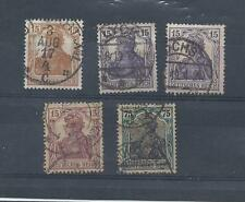 Germany stamps. 1916 - 1919 Germania used (V713)