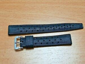 AUTHENTIC 16MM NOS 1960'S TROPIC PERFORATED SWISS BAND STRAP      #7300