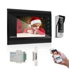 """Tmezon 7"""" Wireless Video Intercom System Doorbell Home with Electric Door Lock"""