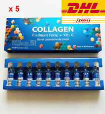 5x New Collagen Platinum Forte + Vit C Biocell 10 Amps X 5ml. DHL Express