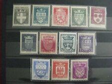 timbres français : Armoiries de villes 1941 YT n° 526 à 537 *