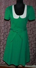 ROCKABILLY RETRO new SIRENS Collection dance day dress NWT rrp $239 green s M/10
