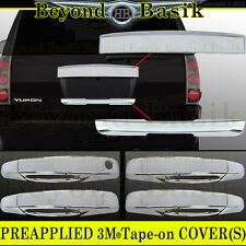2007-2014 GMC YUKON , XL Chrome Top Tailgate+Lower Liftgate+Door Handle COVERS