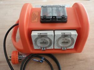 BOSBOX 240v 15A 4x OUTLET IP66 RATED PSOA PORTABLE SITE POWER BOX ELECTRICAL