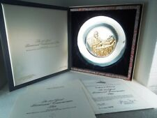 Thomas Jefferson Bicentennial Independence 24K Gold Plate Silver Franklin Mint