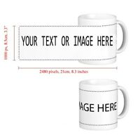 BRAND NEW PERSONALISED CUSTOM GIFT WHITE MUG YOUR IMAGE PHOTO LOGO OR  by jevge
