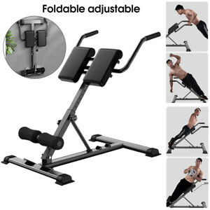 Foldable Roman Chair Back Hyperextension Fitness Exercise Bench for Home/Gym UK