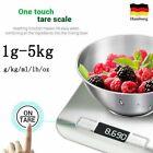2021 Neu 5KG Digital LCD Elektronische Küchenwaage Edelstahl Lebensmittel Skala
