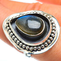 Huge Labradorite 925 Sterling Silver Ring Size 8.25 Ana Co Jewelry R45870F
