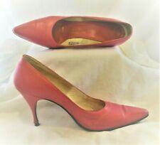 """Vintage Andrew Geller Proctor's Size 6.5Aaa Pink Pumps 3.25"""" Narrow Heels Shoes"""