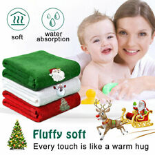 Christmas Hand Towels Washcloths 100% Pure Cotton Bathroom Dining Table Kitchen