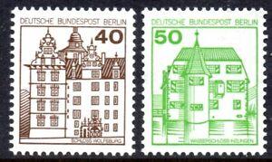 Berlin 1980 German Castles Series 4 set of 2 Mint Unhinged