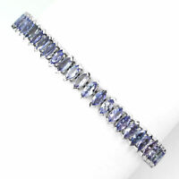 13.55CT Marquise Cut Tanzanite 14K White Gold Over Exclusive Tennis Bracelet