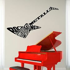 Wall Vinyl Music Electric Guitar Heavy Metal Guaranteed Quality Decal (z3490)