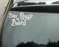 little Muggle on Board Cute Harry Potter Funny Car Decal Sticker