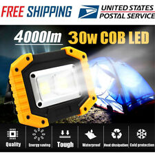 LED Work Light, COB 30W 4000Lumens Rechargeable Portable Work Light Stand US