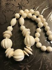 Ivory Colored Large Beaded Necklace