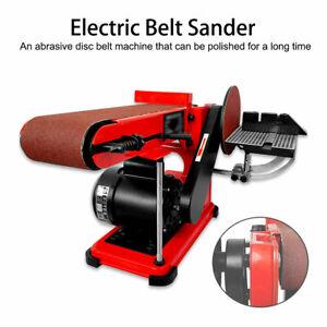 HEAVY DUTY 400W ELECTRIC BENCH SANDER GRINDER 90° BELT & DISC SANDING MACHINE UK