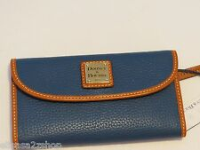 Dooney and Bourke Jeans blue wallet checkbook ZR507 JE RARE ID womens D & B RARE