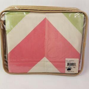 Silk King Pillow Sham Vintage 80s Pastel Colorblock USA Oscar de la Renta NEW