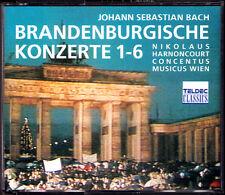 HARNONCOURT: BACH Brandenburg Concerto No.1 2 3 4 5 6 Concentus musicus Wien 2CD