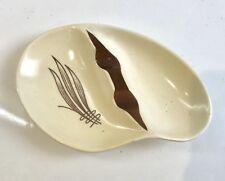 Vintage CARLTON WARE Australian Design cendrier crème et marron