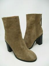 New Rag & Bone Aspen Camel Tan Suede Back Zip Booties Sz EUR 38 US 8