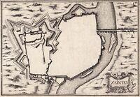 Plan XVIIe Saintes Charente Maritime Christophe Tassin 1634