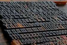Letterpress Wood Printing Blocks 219pcs 118 Tall Wooden Type Woodtype Alphabet