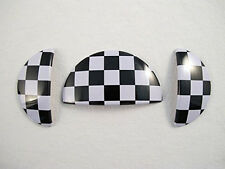 Checkered Race Interior Door Handle+Glove Box Covers for Mini Cooper R50 R52 R53