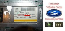 radio stereo code m series ford models focus transit escort fusion fiesta
