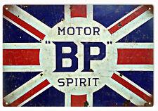 BP Motor Oil With British Flag Garage Art Sign