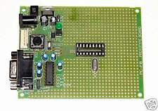 Assembled PIC Microchip PIC-P18 prototype board