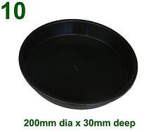 Black Plastic Saucer to suit 250mm Round Plant Pot x10