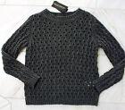 RINASCIMENTO pullover donna di maglia mix lana con alpaca S M 36 38 grigio