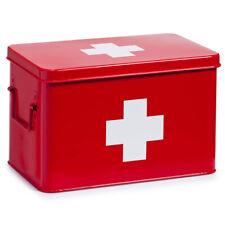 Metal Medication Box Medicine Red Cabinet Home Medical Supplies
