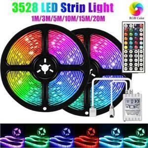 Tira Luces LED RGB Multicolor Cinta 1-20M Navidad, TV, Habitación+Control Remoto