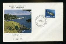 1963 Norfolk Islands 11d fish   Illustrated First Day Cover