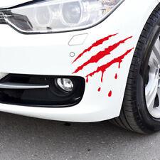 Monster Scratch Stripe Claw Sticker Marks Car/Bike/Auto Vinyl Sticker Decal Red