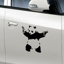 PANDA WITH GUNS Vinyl Decal Sticker Car Window Wall Bumper Macbook BANKSY ART CN
