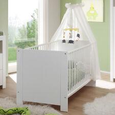 Babybett Sprossenbett Babyzimmer Olivia wei�Ÿ höhenverstellbar Schlupfsprossen